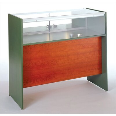 Tecno Display Elevated Quarter-Vision Jewelry Case with Wood Sides and Standard Finishes