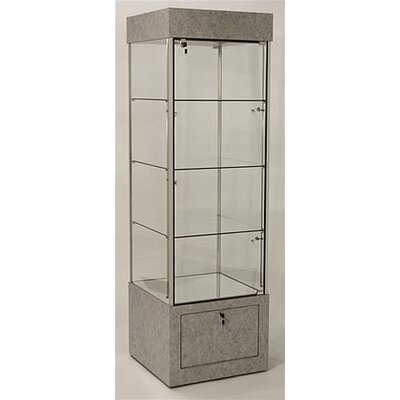 Tecno Display Medium Square Glass Tower Display Case