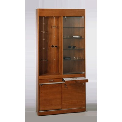 Tecno Display Solid Wood Optical Wall Showcase