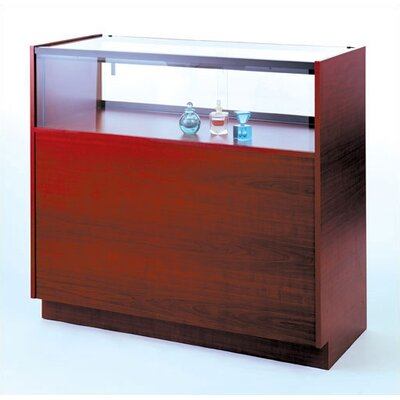 Tecno Display Quarter-Vision Jewelry Case with Wood Sides and Premium Finishes
