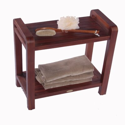 Decoteak Lift Aide Ergonomic Teak Spa Shower Bench