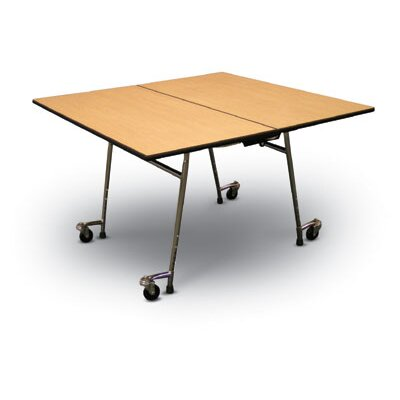 "Midwest Folding Products 27"" x 48"" x 48"" Square Mobile Table Unit"