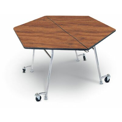 "Midwest Folding Products 29"" x 48"" Hexagon Mobile Table Unit"