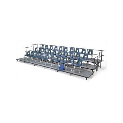 Midwest Folding Products Band Riser Straight Section with Hardboard Deck
