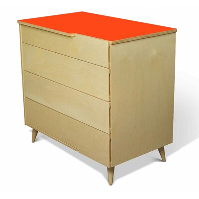 True Modern 11 Ply 4 Drawer Dresser