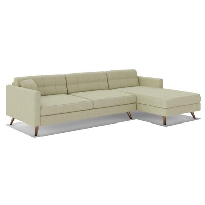 True Modern Dane 116' Sofa with Chaise