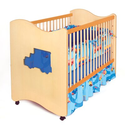 Room Magic Boys Like Trucks Crib / Toddler Bed in Chocolate