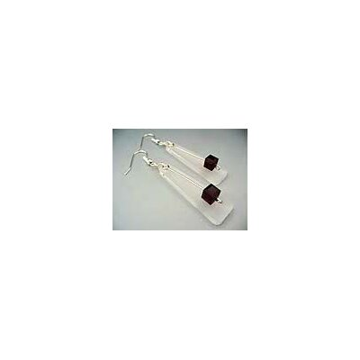 Sterling Silver Pink Crystal Earrings with Swarovski Elements
