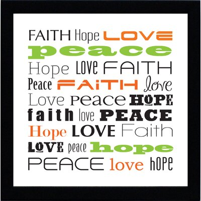 Artistic Reflections Faith Hope Love Print Art