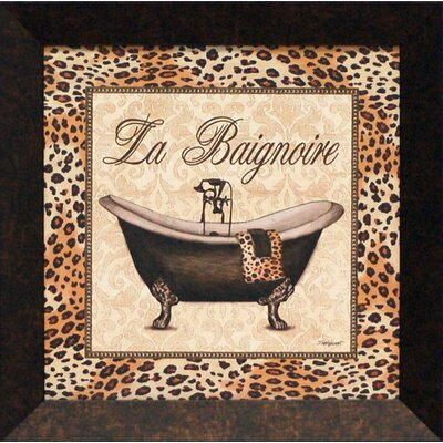 Leopard Bathtub Framed Art