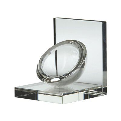 Lazy Susan USA Crystal Sphere Bookend 2 Piece Set