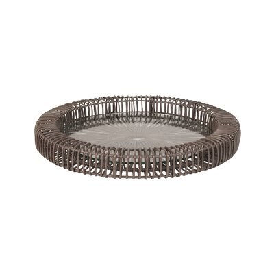 Lazy Susan USA Wicker Spoke Round Serving Tray