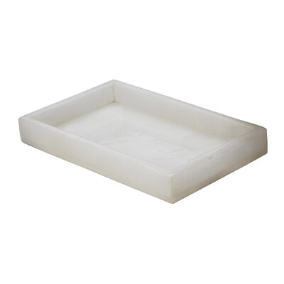 Lazy Susan USA Alabaster Vanity Rectangular Serving Tray