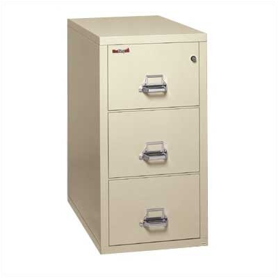 Fire King Three-Drawer Vertical Letter File
