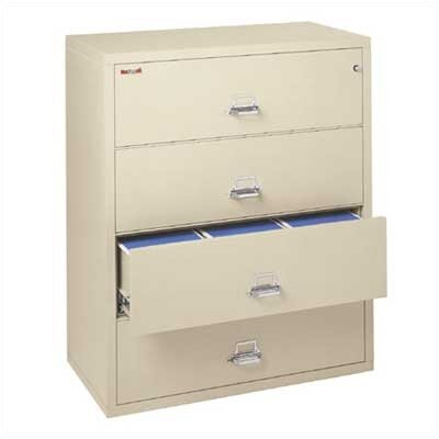 "Fire King 44"" W Three-Drawer Lateral File"