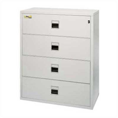 "Fire King 44 1/2"" W Three-Drawer Lateral Signature File"