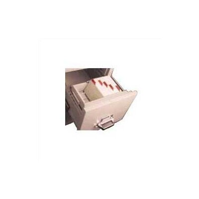 "Fire King Legal Size Vertical and Lateral File Cross Tray for 3"" H x 5"" W Cards"