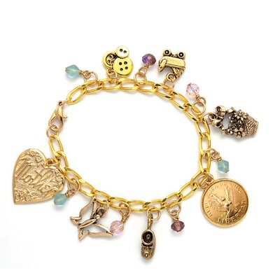 American Coin Treasures Angel Coin Baby Charm Bracelet