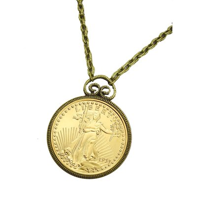 American Coin Treasures Double Eagle Piece Replica Pendant