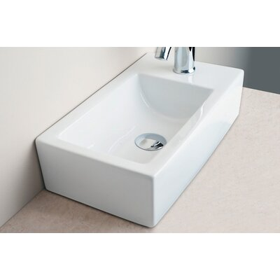 Small Rectangular Bar Single Hole Bathroom Sink - IMG-7628