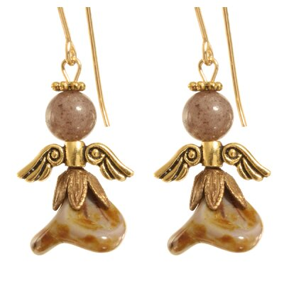 Ardent Designs Uzziel Angel 14 Kt Goldfilled Earrings