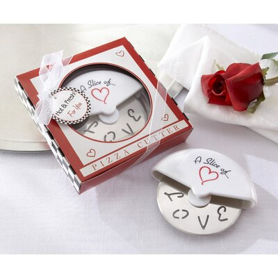 ''A Slice of Love'' Pizza Cutter in Miniature Pizza Box
