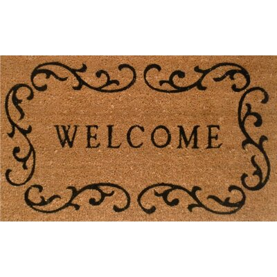 Home & More Welcome Curlicue Doormat