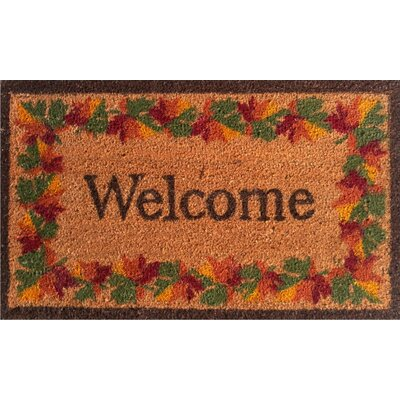 Home & More Fall Border Welcome Doormat