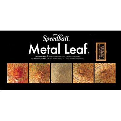 Speedball Mona Lisa Variegated Metal Leaf Sheets (Set of 6)