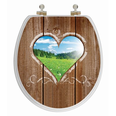 Topseat 3D Series Love Window Round Toilet Seat