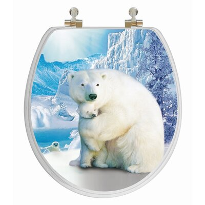 Topseat 3D Series Polar Bear Round Toilet Seat