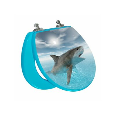 Topseat 3D Ocean Series  Shark Round Toilet Seat