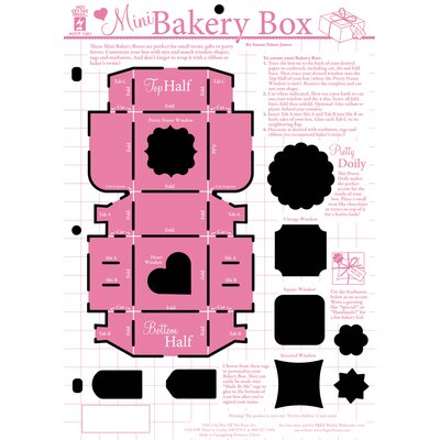 Hot Off the Press Mini Bakery Box Template