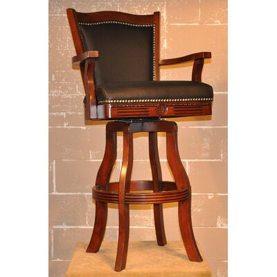 "ECI Furniture Swivel Bar Stool - Monticello 30"" Leather in Cherry"