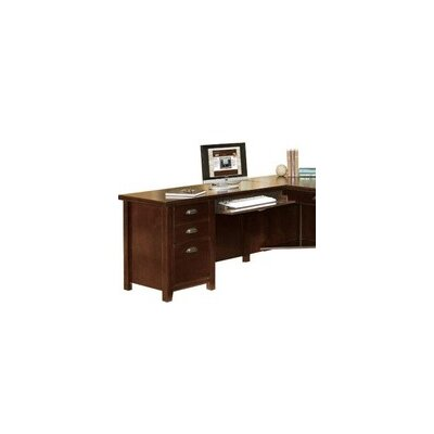 "kathy ireland Home by Martin Furniture Executive Desk 29"" H x 53"" W Left Side Facing Keyboard Desk Return"
