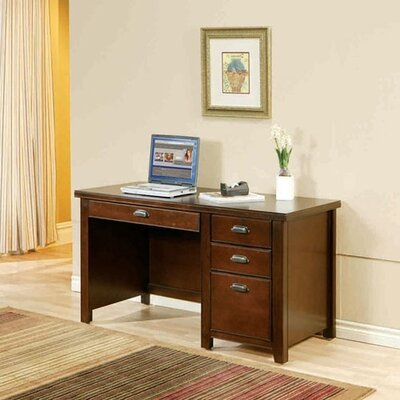 Tribeca Loft Cherry Single Pedestal Desk