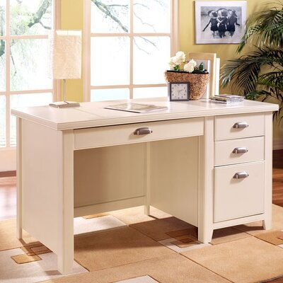 Tribeca Loft White Single Pedestal Computer Desk