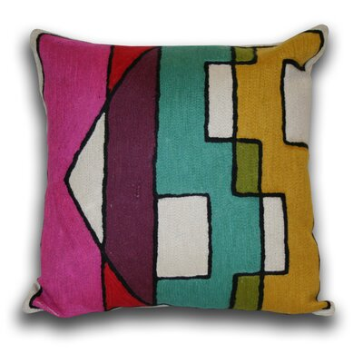 Marlo Lorenz Graphic Kiss Wool and Cotton Pillow