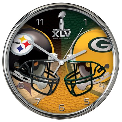 The Memory Company Super Bowl Dueling Clock in Chrome