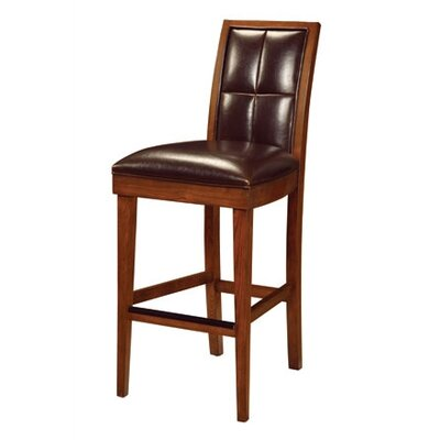 Modus Furniture Hudson Dining Biscuit Back Bar Stool in Mocha (Set of 2)
