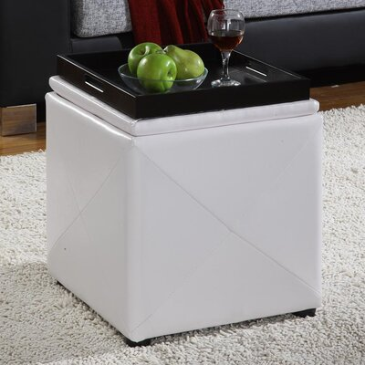 Modus Furniture Milano Leatherette Cube Ottoman