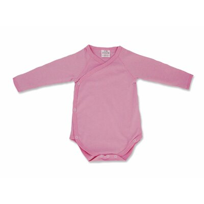 Baby Star Soy Organic Kimono Bodysuit in Cotton Candy Pink
