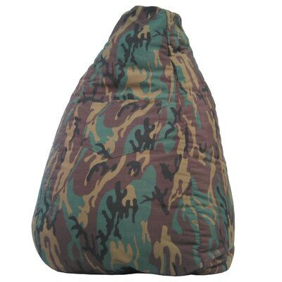Gold Medal Bean Bags Dorm Camo Bean Bag Chair