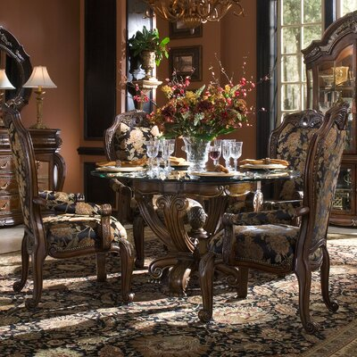 michael amini oppulente 5 piece dining set