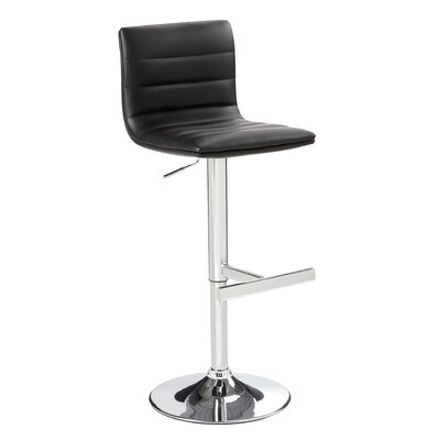 Motivo Faux Leather Adjustable Barstool
