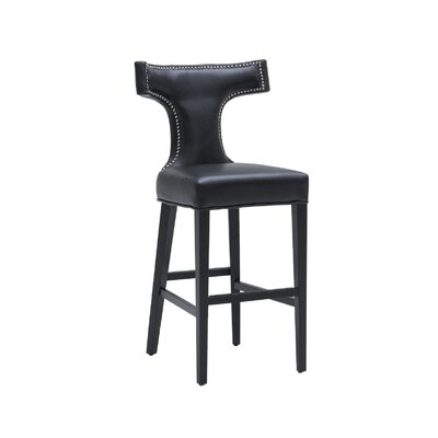Sunpan Modern Serafina Bonded Leather Stool
