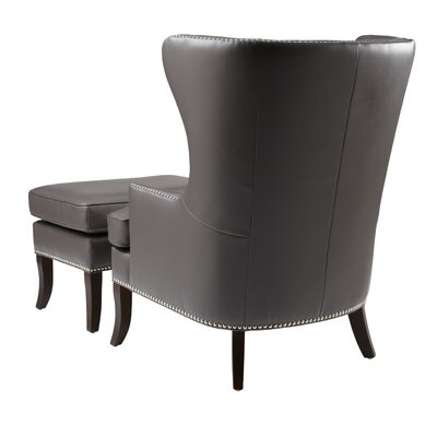 Sunpan Modern Royalton Chair and Ottoman