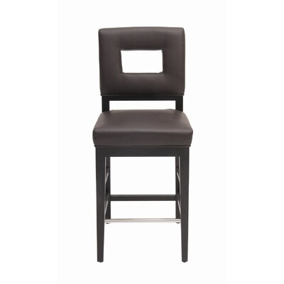 Sunpan Modern Element Bonded Leather Stool