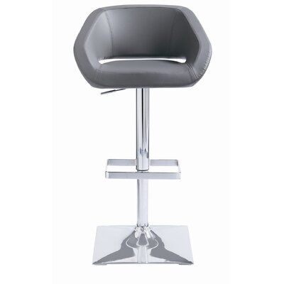 Gustavo Faux Leather Adjustable Barstool