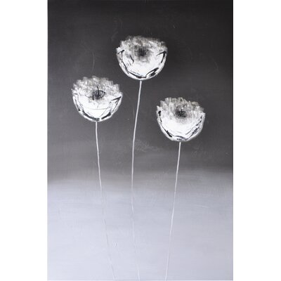 Sunpan Modern Three Flowers Wall Art